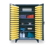 BIN STORAGE CABINETS WITH SHELVES