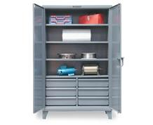 INDUSTRIAL CABINET WITH LOWER HALF-WIDTH DRAWERS